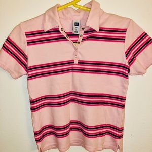 Kids Striped Pink and Blue Polo